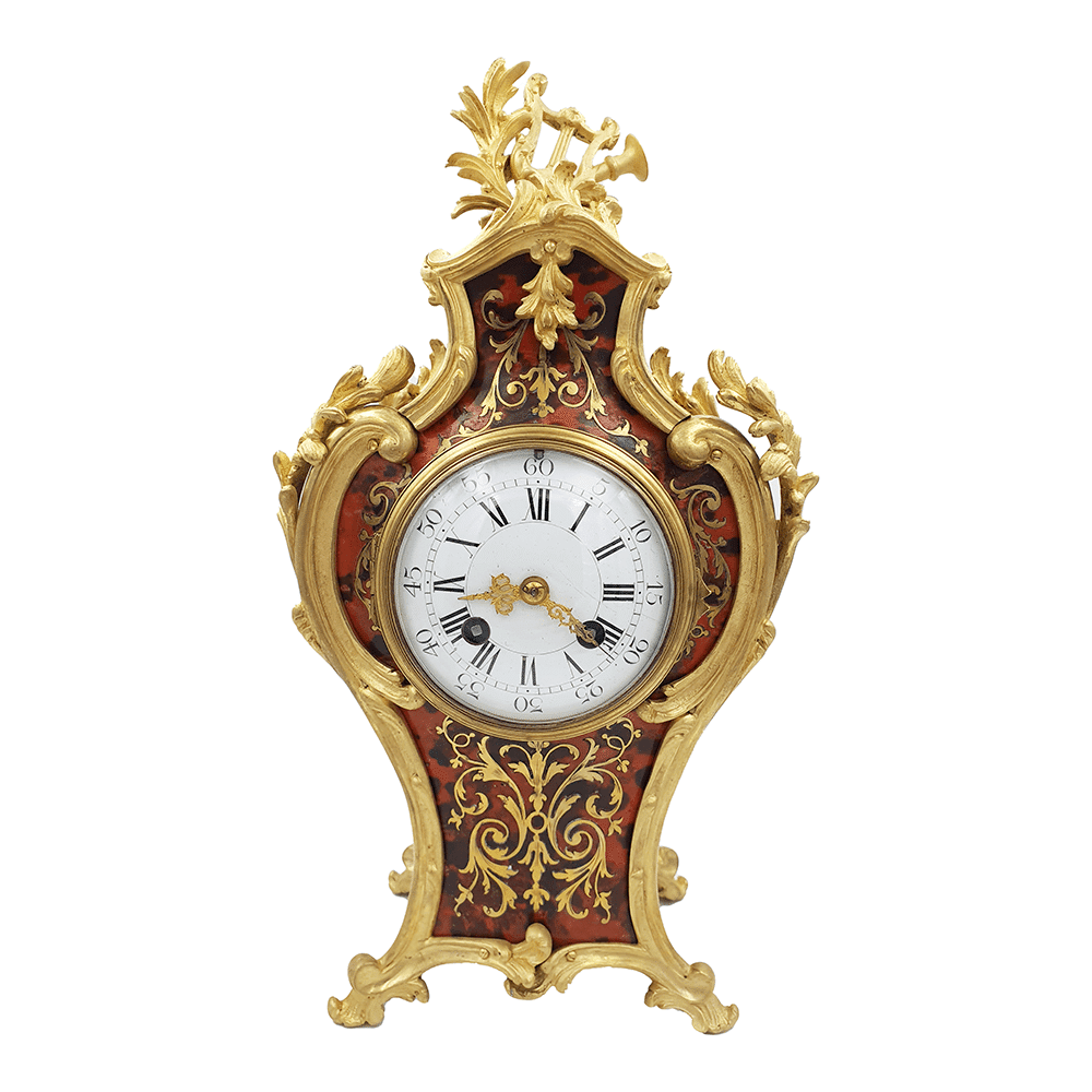 Japy Freres Clock in bronze and tortoishell Reloj bronce y carey Jpay freres