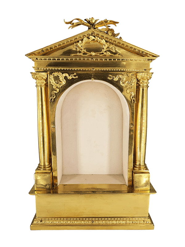 Neoclassical gilded bronze temple