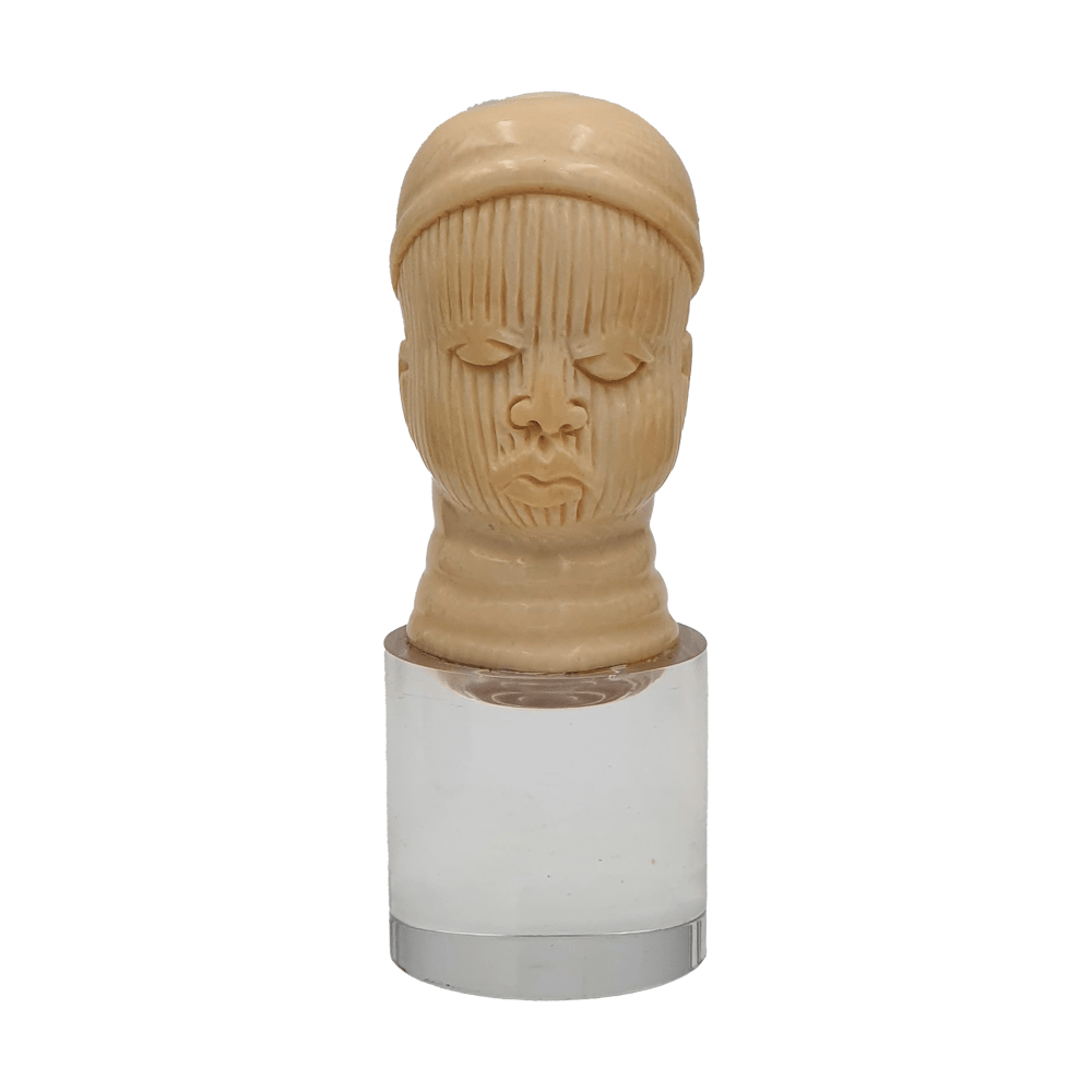 Cabeza africana en marfil | African head in ivory